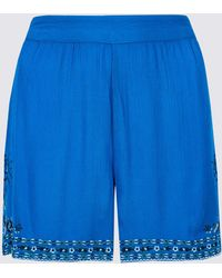 Marks & Spencer - Embroidered Casual Shorts - Lyst