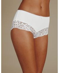 Marks & Spencer | Cotton Rich Midi Knickers | Lyst
