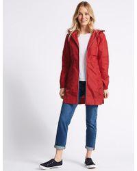 Marks & Spencer - Shower Resistant Pack-away Mac - Lyst
