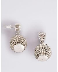 Marks & Spencer - Bobble Drop Earrings - Lyst