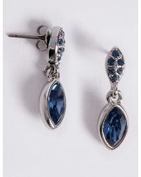 Marks & Spencer - Pavé Navette Diamanté Drop Earrings Made With Swarovski® Elements - Lyst