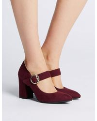 Marks & Spencer - Block Heels Court Shoes - Lyst