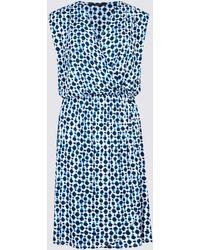 be25cf328e45 Marks   Spencer Printed Sleeveless Beach Dress in Black - Lyst