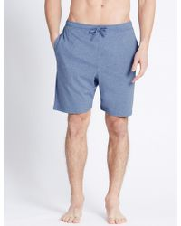 Marks & Spencer - 2 Pack Pure Cotton Stay Soft Pyjama Shorts - Lyst