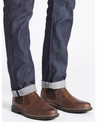 Marks & Spencer | Leather Chelsea Slip-on Boots | Lyst
