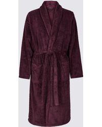 Marks & Spencer - Supersoft Fleece Dressing Gown - Lyst