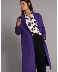 Marks & Spencer - Wool Blend Single Breasted Coat - Lyst