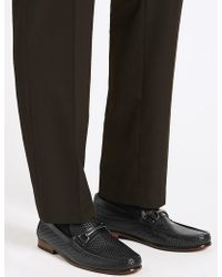Marks & Spencer - Leather Snaffle Slip-on Loafers - Lyst