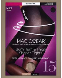 Marks & Spencer - 15 Denier Magicweartm Shine Body Shaper Tights - Lyst