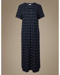 a5f43604f8c Marks   Spencer Ditsy Floral Print Nightdress in Blue - Lyst
