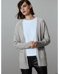 1ba8ca6f8c Marks   Spencer - Pure Cashmere Ribbed Cardigan - Lyst