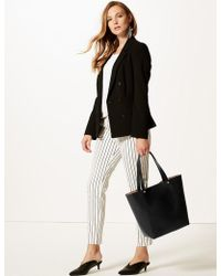 Marks & Spencer - Faux Leather Tote Bag - Lyst