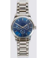 Marks & Spencer - Stainless Steel Round Face Watch - Lyst