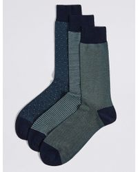 Marks & Spencer - 3 Pairs Of Egyptian Cotton Luxury Socks - Lyst
