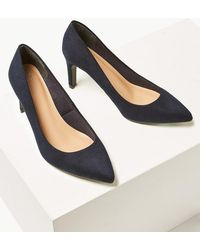 Marks & Spencer - Wide Fit Stiletto Heel Pointed Court Shoes - Lyst
