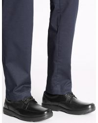 Marks & Spencer - Big & Tall Extra Wide Fit Leather Shoes - Lyst