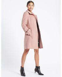 Marks & Spencer - Waist Stitch Detail Coat - Lyst