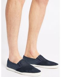 Marks & Spencer - Canvas Slip-on Pump Shoes - Lyst