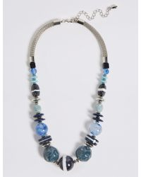 Marks & Spencer - Multi Stripe Discs Necklace - Lyst