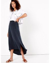 Marks & Spencer - Asymmetric Maxi Skirt - Lyst