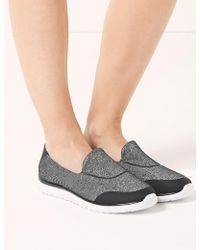 Marks & Spencer - Wide Fit Slip-on Trainers - Lyst
