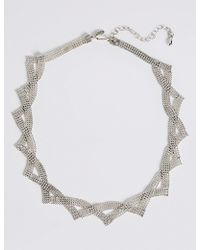 Marks & Spencer - Silver Plated Ball Chain Collar Necklace - Lyst