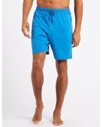 Marks & Spencer - 2 Pack Pure Cotton Pyjama Shorts - Lyst