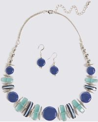 Marks & Spencer - Horizon Shapes Necklace & Earrings Set - Lyst