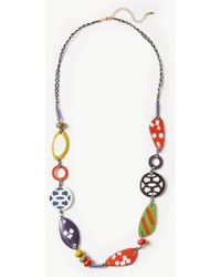 Marks & Spencer - Multi Pattern Bead Long Necklace - Lyst