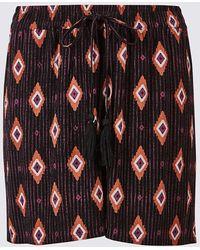 Marks & Spencer - Printed Drawstring Tassel Shorts - Lyst