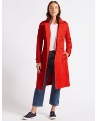 Marks & Spencer - Pure Cotton Longline Trench With Stormweartm - Lyst