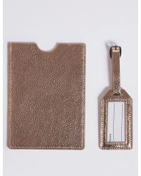 Marks & Spencer   Faux Leather Passport Holder & Tag Set   Lyst
