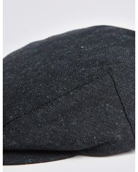 Marks & Spencer - Wool Blend Flat Cap With Stormweartm - Lyst
