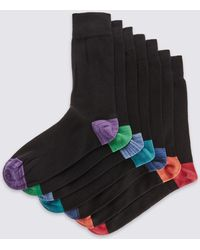 Marks & Spencer - 7 Pairs Of Heel & Toe Cool & Freshfeettm Socks - Lyst