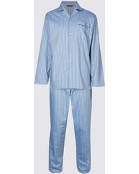 Marks & Spencer - Big & Tall Pure Cotton Striped Pyjamas - Lyst