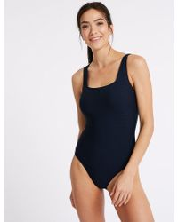 Marks & Spencer - Textured Non-wired Swimsuit - Lyst