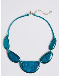 Marks & Spencer - Aqua Jelly Collar Necklace - Lyst