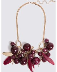 Marks & Spencer - Grape Collar Necklace - Lyst