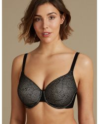 Marks & Spencer - Smoothing Jacquard Lace Underwired Bra Dd-gg - Lyst