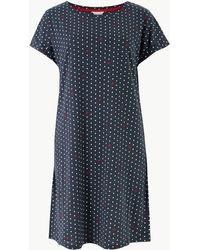 Marks & Spencer - Heart & Spot Print Short Nightdress - Lyst