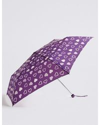 Marks & Spencer - Heart Print Umbrella With Stormweartm - Lyst