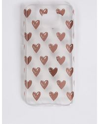 Marks & Spencer - Samsung S7® Heart Print Phone Case - Lyst