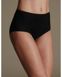 Marks & Spencer - 5 Pack Cotton Rich High Leg Knickers With New & Improved Fabric - Lyst