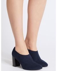 Marks & Spencer - Block Heel Side Zip Shoe Boots With Insolia® - Lyst