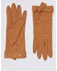 Marks & Spencer - Textured Knot Detail Gloves - Lyst