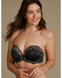 Marks & Spencer - Padded Underwired Multiway Strapless Bra A-e - Lyst