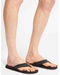 Marks & Spencer - Perforated Slip-on Flip Flops - Lyst