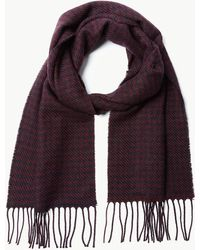 Marks & Spencer - Dogstooth Woven Scarf - Lyst