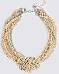 Marks & Spencer - Knot Pearl Necklace - Lyst