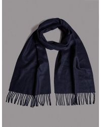 Marks & Spencer - Pure Cashmere Scarf - Lyst